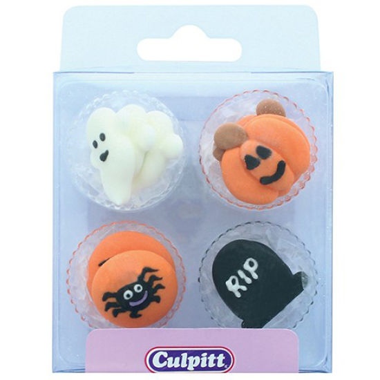 Halloween Sugar Decorations pack of 12