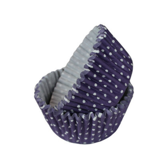 SK Cupcake Cases Polka Dot Depp Lavender - Bulk Pack of 360