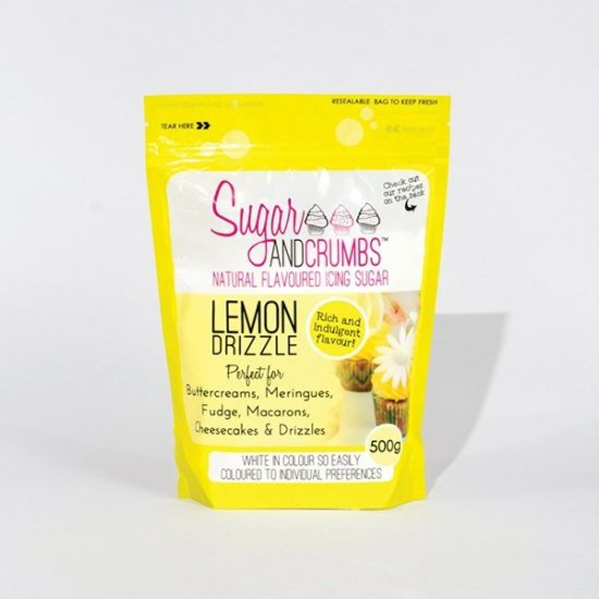 Sugar & Crumbs Lemon Drizzle Natural Flavoured Icing Sugar 500g