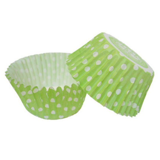 SK Cupcake Cases Spring Dotty Green Pack of 36