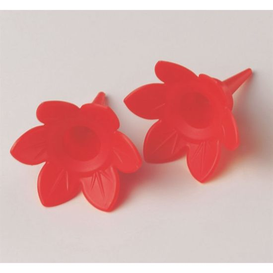 Single Plastic Candle Holders - Red
