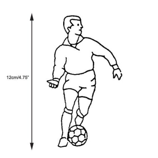 Patchwork Cutter & Embosser Footballer