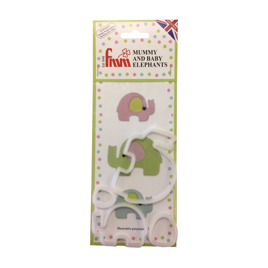 FMM Mummy & Baby Elephant Cutters - Set of 4