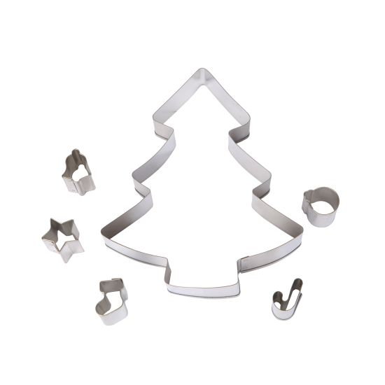 Christmas Tree Cookie Cutter Set - 6 Pieces