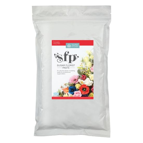 SK SFP Sugar Florist Paste Poinsettia Christmas Red 1kg