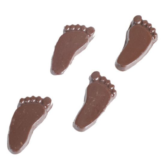 Chocolate Mould Footprints 6 pairs
