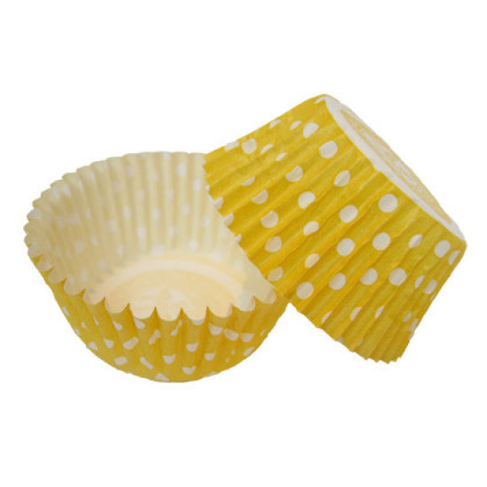 SK Cupcake Cases Spring Dotty Yellow Pack of 36