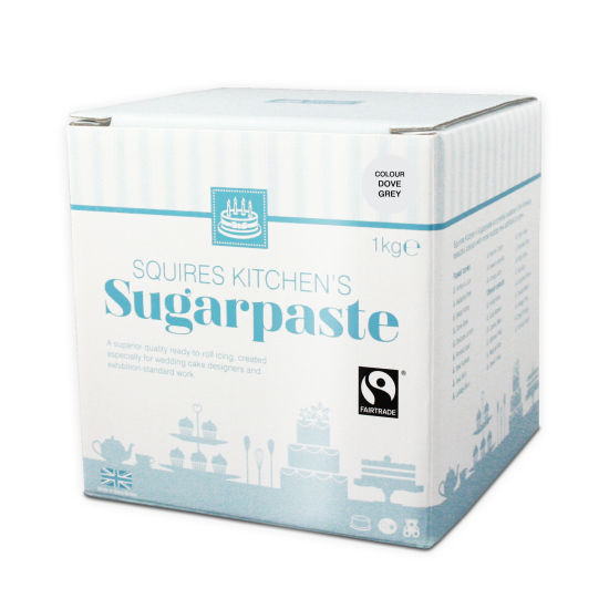 SK Fairtrade Sugarpaste Dove Grey 1kg