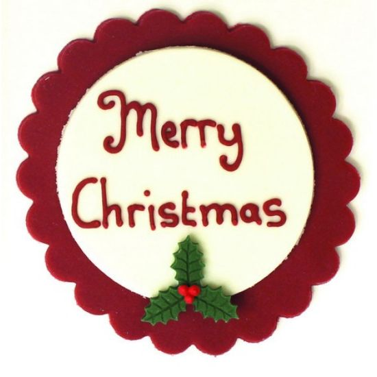 Traditional Merry Christmas Plaque
