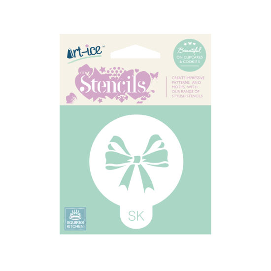 SK Art-ice Stencil Round Celebration Bow