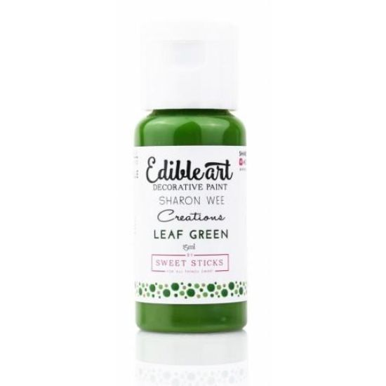 Sweet Sticks Edibleart Decorative Paint Leaf Green 15ml