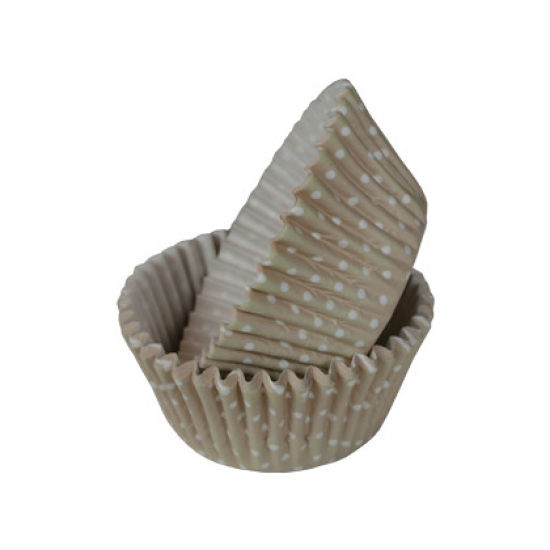 SK Cupcake Cases Polka Dot Light Taupe Pack of 36