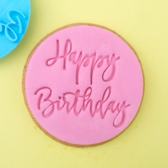Sweet Stamp Trendy Happy Birthday Cupcake Embosser