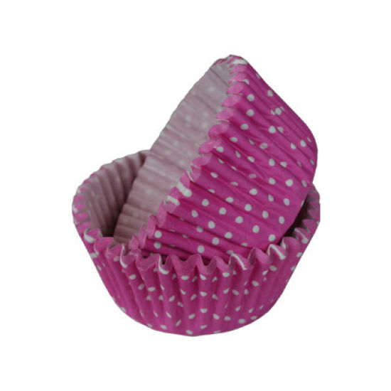 SK Cupcake Cases Polka Dot Hot Pink Pack of 36