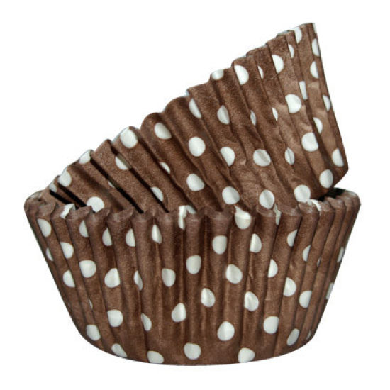 SK Cupcake Cases Dotty Chocolate Pack of 36