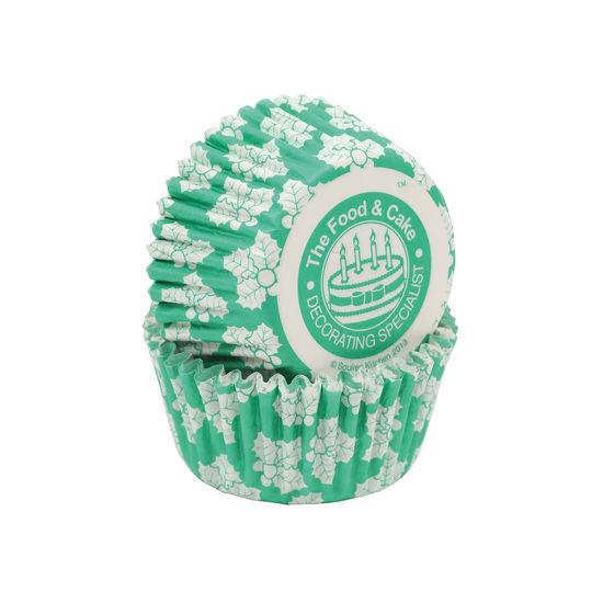 SK Cupcake Cases Leaf Green Holly - Bulk Pack of 360