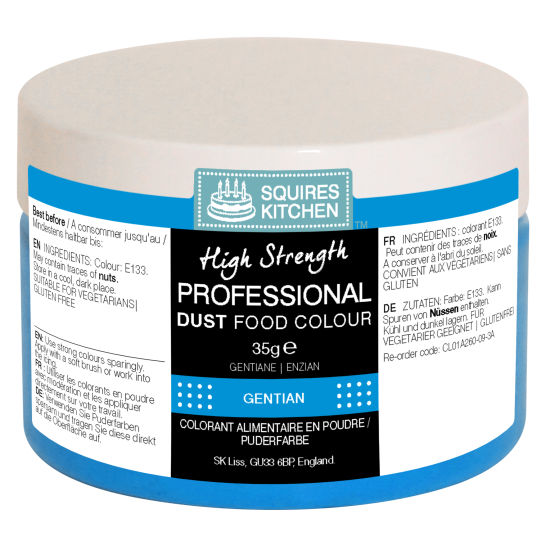 SK Professional Food Colour Dust Gentian (Ice Blue) 35g