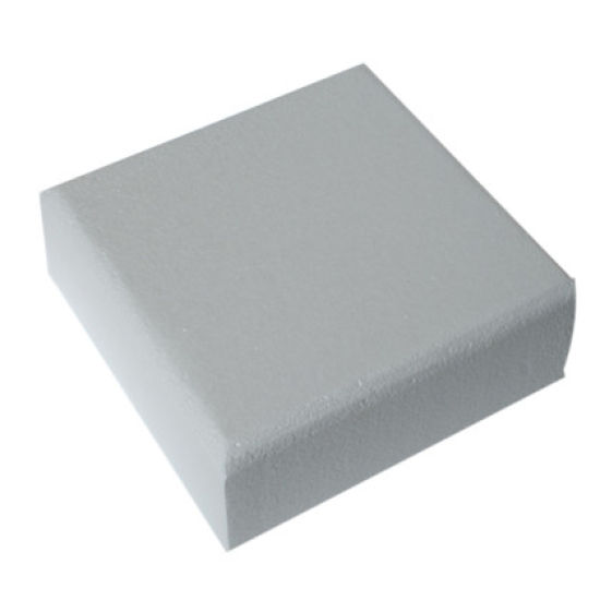 Square Chamfered Edged Cake Dummy - 4 Inch