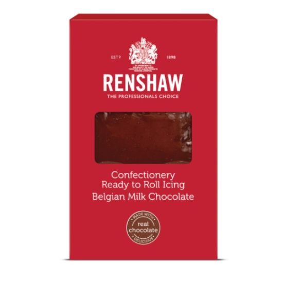 Renshaw Confectionery Ready to Roll Icing Milk Chocolate 1kg