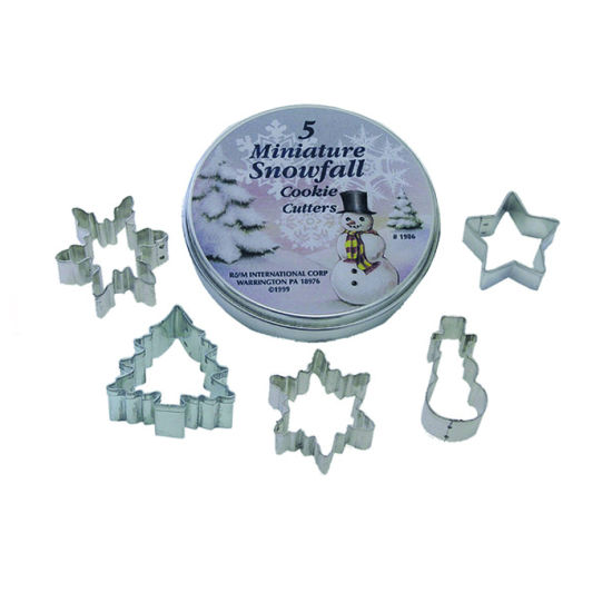 Mini Snowfall Tinned Cookie Cutter Set