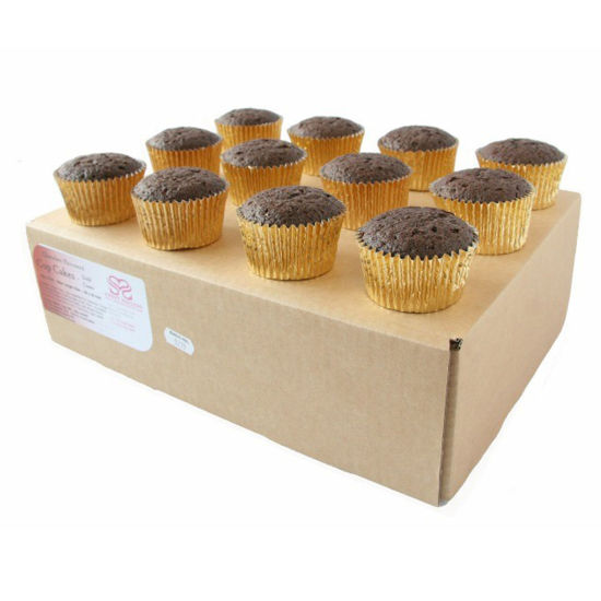 Ready to Decorate Chocolate Cupcakes 24 Large in Gold Cases