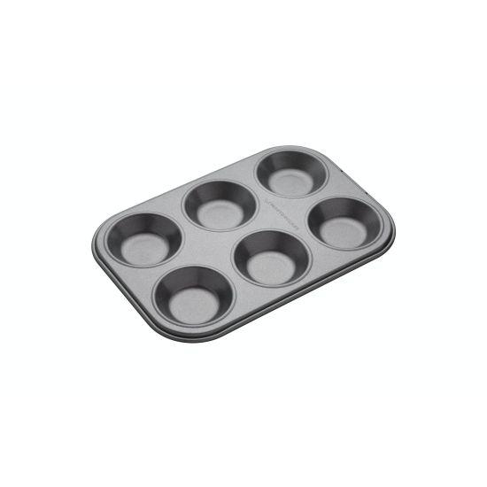 MasterClass Non-Stick 6 Hole Shallow Baking Pan
