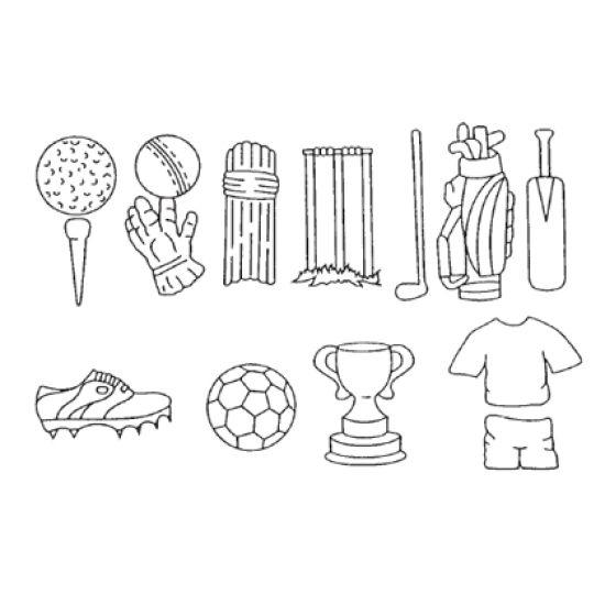 Patchwork Cutter & Embosser Sports Set