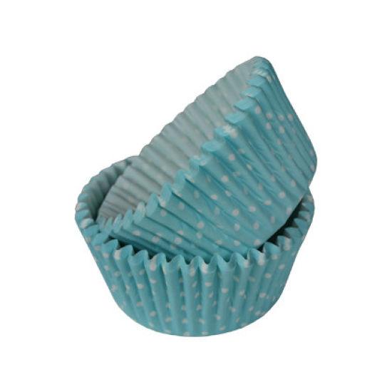SK Cupcake Cases Polka Dot Blue Pack of 36