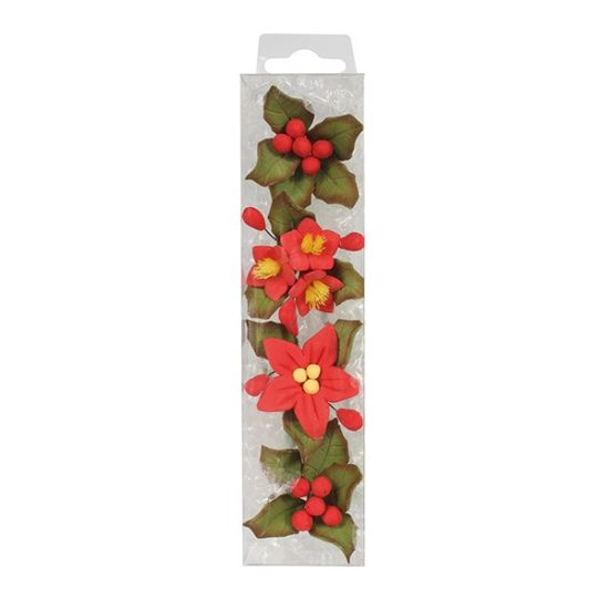 Mini Poinsettia Flower Spray