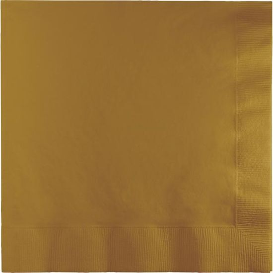 Celebrations Value Lunch Napkins Glittering Gold 2 ply