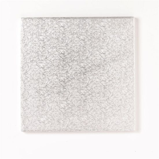 Silver Drum 1/2 Inch Thick Square 6 Inch - Pack of 5