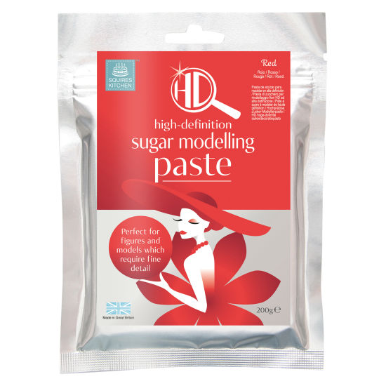 Squires Kitchen HD Sugar Modelling Paste Red 200g