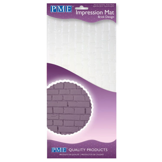 PME Brick Design Impression Mat