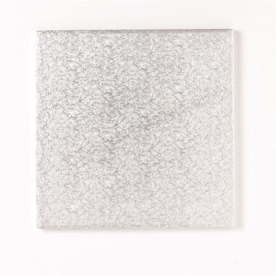 Silver Drum 1/2 Inch Thick Square 8 Inch - Pack of 5
