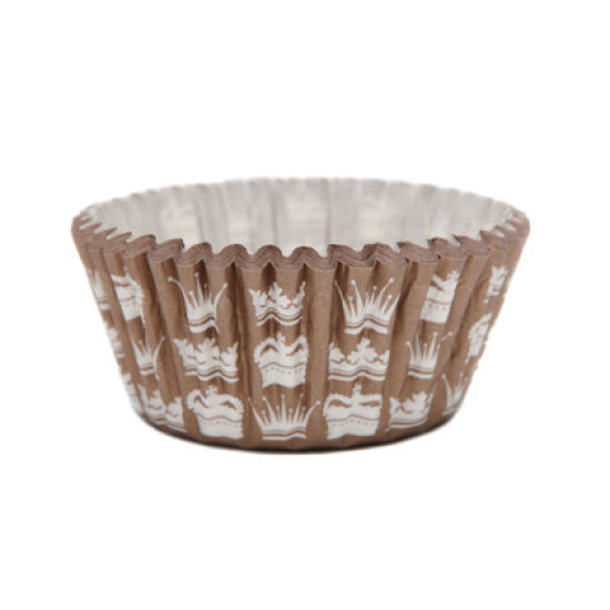 SK Cupcake Cases Crown Gold Pack of 36