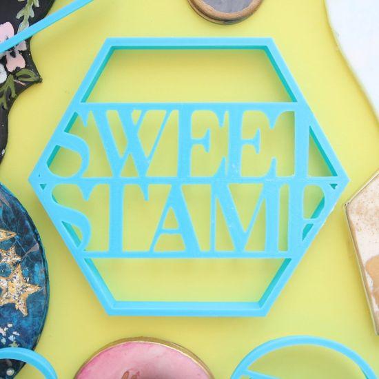 Sweet Stamp Blank Canvas Hexagon Cutter