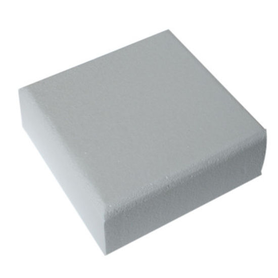 "Square Straight Edged Cake Dummy - 2"" Deep"