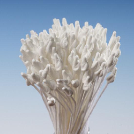 White Matt Pointed Head Stamens - Large