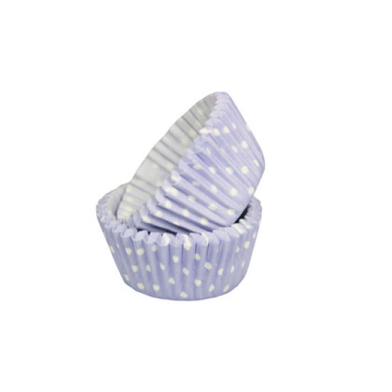 SK Mini Cupcake Cases Polka Dot Pale Lavender Pack of 50