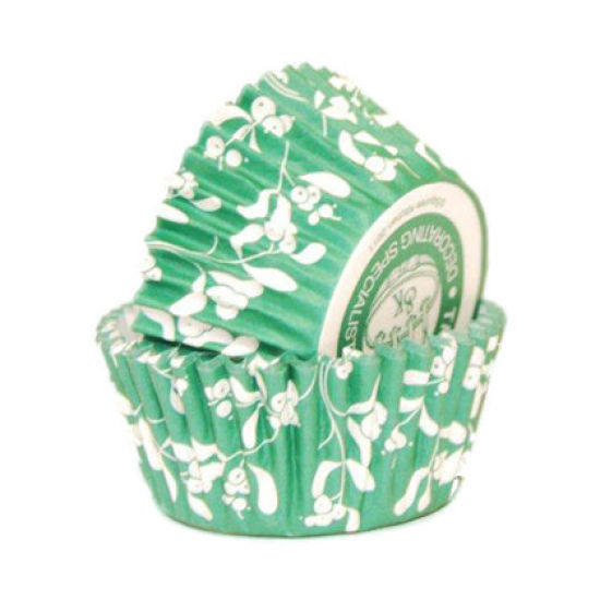 SK Cupcake Cases Mistletoe Vintage Green Pack of 36