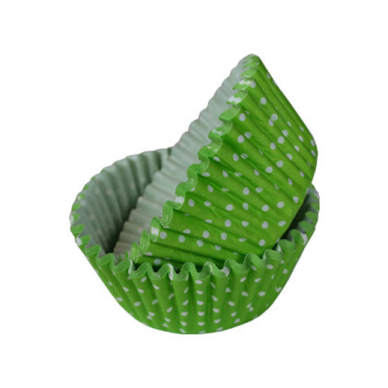 SK Cupcake Cases Polka Dot Fresh Green Pack of 36