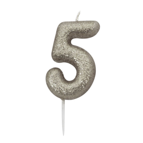 Glitter Number Candles