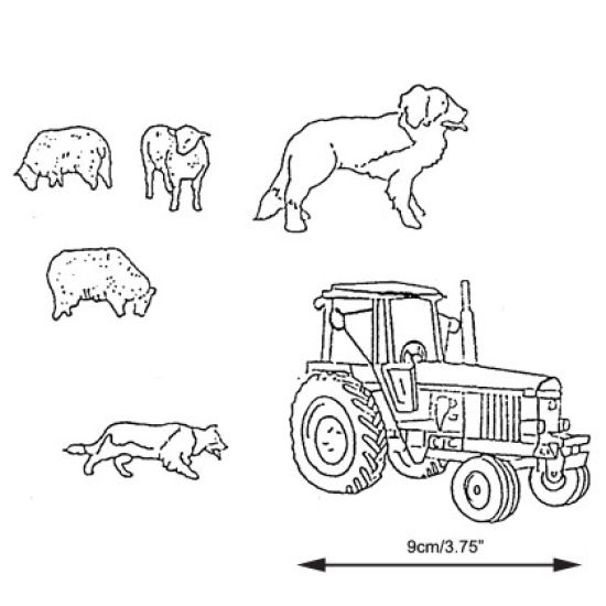 Patchwork Cutter & Embosser Tractor, Sheep and Dog