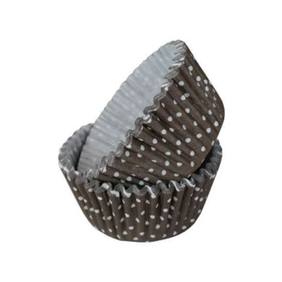 SK Cupcake Cases Polka Dot Chocolate Pack of 36