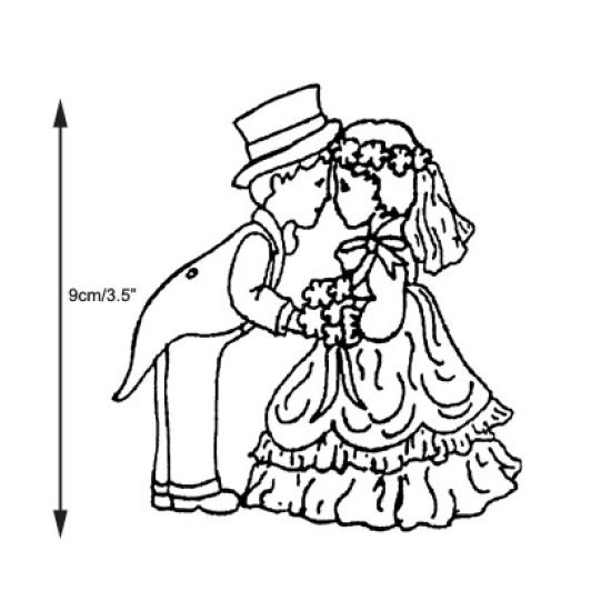 Patchwork Cutter & Embosser Bride and Groom
