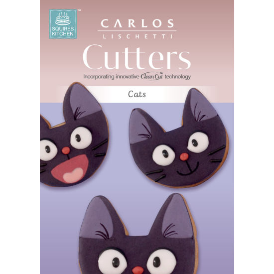 Carlos Lischetti Biscuit Cutters - Cats (Set of 2)