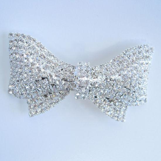 Large Diamante Bow Ribbon Buckle