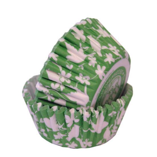 SK Cupcake Cases Bird Celadon Green Pack of 36