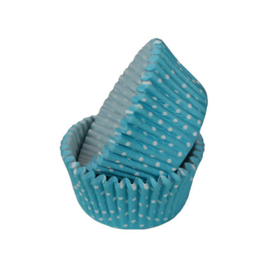 SK Cupcake Cases Polka Dot Turquoise Pack of 36
