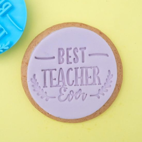 Sweet Stamp Best Teacher Ever Cupcake Embosser